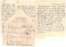 Feldpost Brief 2.WK 21.3. 1945 mit Inhalt 08199 Zeitzeugnis (74)