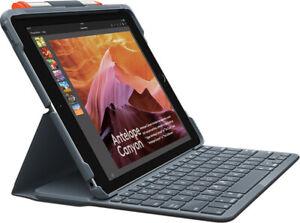 Logitech SLIM FOLIO Tastatur für iPad 6. Generation - Schwarz