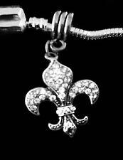 Fleur De Lis charm   Fleur de Lis Austrian Crystal Jewelry Gift