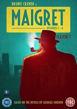 MAIGRET con Bruno Cremer Stagione 1 Episodi 1-6 BOX 3 DVD in Francese NEW .cp