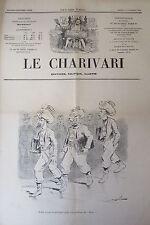 SATIRIQUE PAMPHLET POLITIQUE LE CHARIVARI 1904 PROJET UNIFORME SOUTIENT DU BLOC