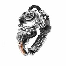 Alchemy Gothic Steampunk EER Steam Powered Entropy Calibrator Pewter Brass Watch