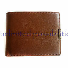 OROTON Austere New Leather 8 CC w Zip Mens Wallet Chocolate Tag + Box