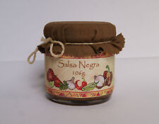 Fire Roasted Salsa Negra smoky spicy hot sauce cream chili caribbean mexican