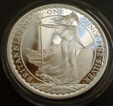 2012 Regno Unito Argento PROOF Britannia £ 2 in (ca. 5.08 cm) Scatola di emissione