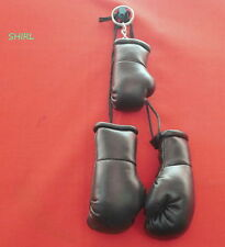 BLACK MINI BOXING GLOVES  PLUS BLACK KEY RING  - HANG IN CAR