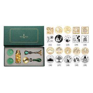 Retro Wedding Box Kit w/ Sealing Wax Beads Spoon Stamp Set DIY Scrapbooking Tool