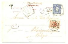 DUTCH INDIES NED INDIE -1900 PPC TO BELGIUM WITH POSTAGE DUE -F/VF