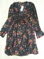 BNWT Papaya Size 18 Black Floral Summer Dress Work Casual Holiday Matalan NEW