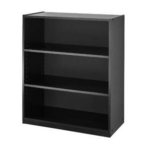 "BOOK SHELF 31"" 3 Shelf Bookcase, Black"
