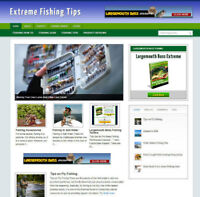 EXTREME FISHING WEBSITE WITH UK AFFILIATE OPTIONS + NEW DOMAIN & FREE HOSTING