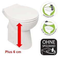 erhöhtes Behinderten Stand Flachspül WC 6cm Abgang innen Senkrecht