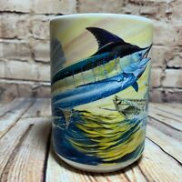 Guy Harvey 2005 Mug Deep Sea Fishing Marlin Ocean Fisherman Big Handle 16 oz