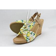 Calzado de mujer sandalias con tiras de color principal blanco talla 38