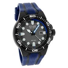 Citizen Eco-Drive Mens Scuba Fin Divers Blue & Grey Rubber Watch BN0097-02H