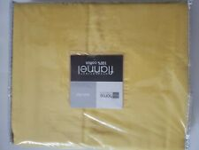 New! Jc Penney Home Collection Yellow Heavyweight Flannel Flat Sheet twin