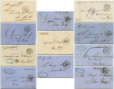 More details for 1860-80 caribbean steamship letters ny due handstamp named ships.each priced