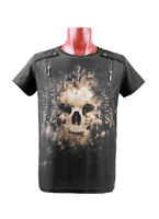 Punk Rave Rock Skull Printing Casual Men's T- Shirt tops Gothic Emo Personality