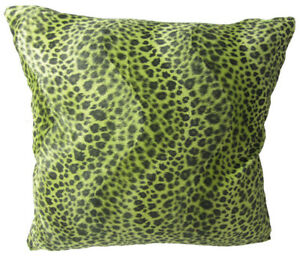 Ff29a Faux Fur Leopard Olive Skin Print Cushion Cover/Pillow Case*Custom Size