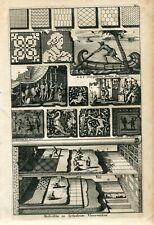 Musifische en Lythostrote Vloerwerken grabado en 1722 por Pieter Van de Aa
