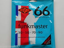Rotosound FM66 Funkmaster guitare basse set acier inox roundwound 30-90 gauge