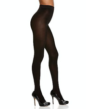 Alice + Olivia by Pretty Polly Silky Opaque Tights in Black 10604 Size S/M