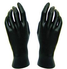 Mn-HandsF-Wf Pair Of Black Left & Right Female Mannequin Hands (Black Only)