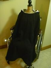 *FALL/Winter Over-head Full-Length Hood WHEELCHAIR PONCHO COAT Adult Reversible