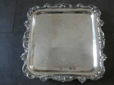Ranleigh Servier Silberplatte England Silberauflage Ornamentik verziert Shabby