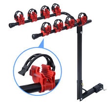 """2 Bicycle Bike Rack 1-1/4""""&2"""" Hitch Mount Carrier Car Truck AUTO SUV Red&Black"""
