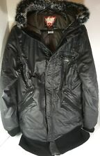 Oakley Women's Hydro Fuel 4 Dark Gray Hooded Winter Zip Coat Jacket