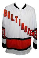Any Name Number Size Baltimore Clippers Custom Retro Hockey Jersey White