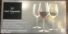 Chef & Sommelier Wine Glasses Set of 8 - 18oz Each Break Resistant New Open Box