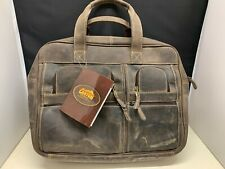 Canyon Outback Cowhide Leather Soft Brown Laptop Business Messenger Bag NEW
