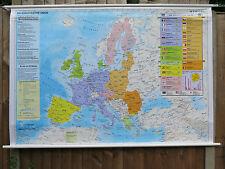 Cool colorido Pull Down geográfica Escuela mapa de pared de la Unión Europea