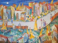 Cuban Art Jose Mijares Original Painting Oil on Canvas