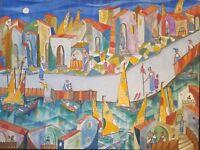 Jose Mijares Marina 36X48 Oil on Canvas Cuban Art