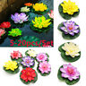 10X Artificial EVA Fake Lotus Leaf Flowers Water Lily Floating Pool Plants Decor