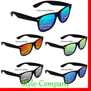 Sonnenbrille Verspiegelt Nerd Pilotenbrille Sport Schwarz Grün Orange Silber