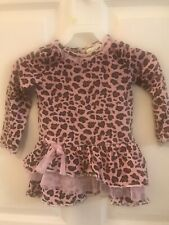 Girl's Animal Print Long Sleeve Blouse Size 24 Months Flapdoodles Brand Pre
