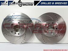 FOR SUBARU IMPREZA WRX STI FRONT PERFORMANCE BRAKE DISCS DRILLED GROOVED 326mm