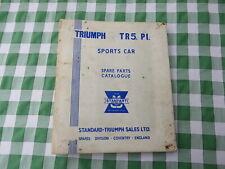 TRIUMPH TR5 PI - Sports Car Spare Parts Catalogue - 1967/1968