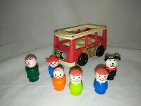Vintage Fisher Price Mini Bus & People