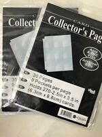 Trading Card Sleeves Trading Card Pages Storage Album Pages **2 PACK**