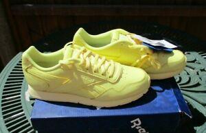 Ladies Reebok Classics Royal Glide Leather Trainers Filtered Yellow UK 4.5 BNIB