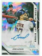 2020 Bowman Sterling JOSE ALTUVE First Signs BLACK ATOMIC AUTO /10 Astros