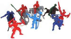 MARX TOYS (?) - GROUP OF EIGHT KNIGHTS OF THE ROUND TABLE - PLUS 4 HORSES