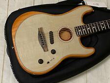 Fender Acoustasonic Stratocaster Transparent Sonic BlueOpen Box Unplayed w/Bag
