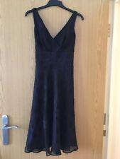 Black Dress Size 12 Petite Debenhams Collection BNWT Beautiful Purple Lining!