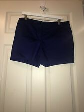 Worthington Women's Size 14 Dress Shorts, Modern Fit, Indigo.